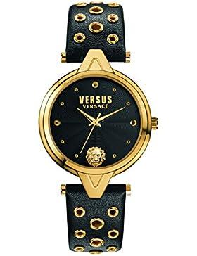 Versus  Damen -Armbanduhr  Analog  Quarz Leder SCI030016