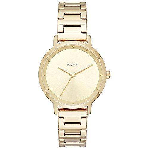 DKNY Reloj de mujer cuarzo 32mm correa y caja de acero color dorado NY2636