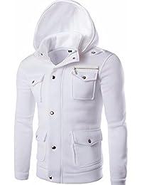 Trada Herren Sweatshirt, Männer Tasche Solide Mantel Jacke Pullover  Sweatshirt Hoodie Langarm Oberbekleidung Lange Ärmel 1badda20d1