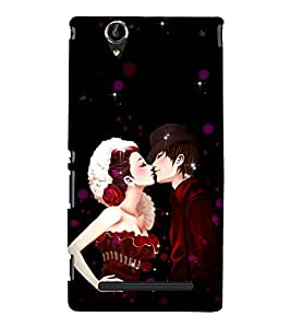 Kiss Of Prince and Princess 3D Hard Polycarbonate Designer Back Case Cover for Sony Xperia T2 Ultra :: Sony Xperia T2 Ultra Dual SIM D5322 :: Sony Xperia T2 Ultra XM50h