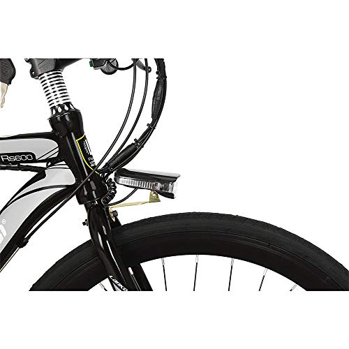 41YLc8yXZdL. SS500  - Cyrusher RS600 Mans 50cm x 700c Road Bike 21 Speeds Electric Bike 240W 36V 15AH Removable Lithium Battery Mountain Bike City Bike Power Assist with Carbon Steel Frame & Dual Disc Brakes