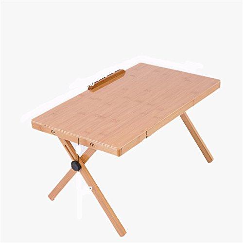 Bambus Computer Schreibtisch Falten Laptop Schreibtisch Bett mit einem kleinen Schreibtisch Einfache Schreibtisch Lerntisch (Getränke-container Glas)