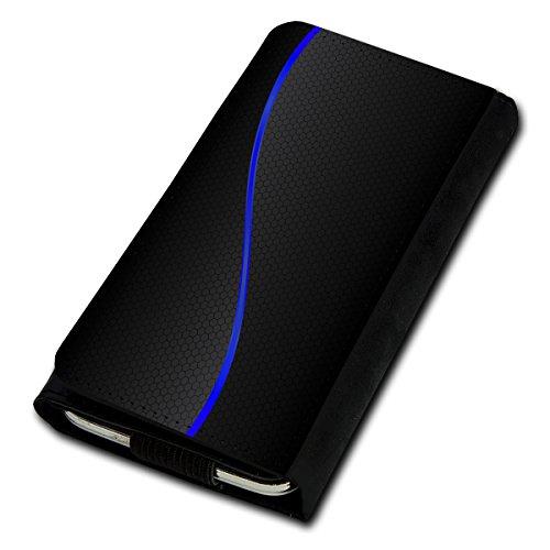 Book Style Flip Handy Tasche Case Schutz Hülle Foto Schale Motiv Etui für Medion Life P5004 - Flip U1 Design4