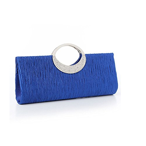 MOAEURO , Damen Clutch Blau