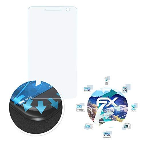 atFolix Schutzfolie passend für Nokia 8 Sirocco Folie, ultraklare & Flexible FX Bildschirmschutzfolie (3X)