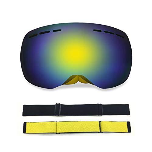 Schutzbrille Getönt Randlose Große Kugelförmige Doppelschicht Anti Fog Skibrille Für Außenbereich Coca Myopie White Yellow Damen Herren