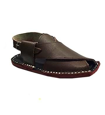 Paduki Men's Beige Leather Sandals