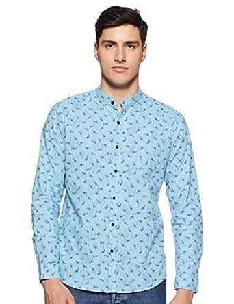 Diverse Men's Printed Slim fit Casual Shirt (DCMCF11RC10L03-294C_Blue S)