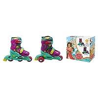 Disney DEA-6292 Elena of Avalor 2-in-1 Convertible Skates 31 to 34, Multi Color