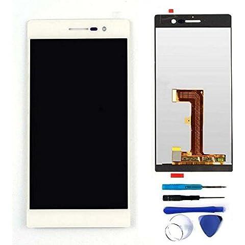 PANTALLA COMPLETA (LCD + Panel táctil) para Huawei Ascend P7 - Blanco
