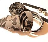 carbonenmy H?herwertig più colore nastro manubrio Bar Tape Bicicletta da corsa GRIFFE sughero, nero/grigio