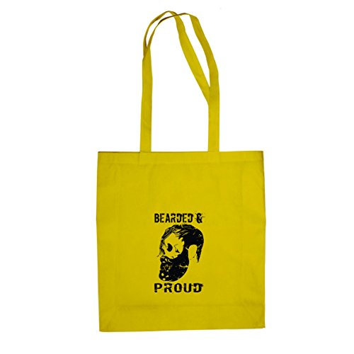 Bearded and Proud - Stofftasche / Beutel Gelb
