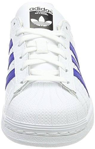 new styles 37225 a460c ... Blanco Zapatos Blanco calzado Hombre Zapatos Superstar Negrita Adidas  Azul De Corrientes WYwq1YSRBZ ...