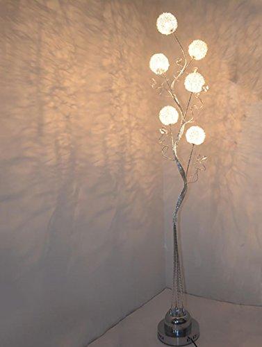 QMMCK Dekoration Stehleuchte Kreative Standleuchte Hochwertiges Aluminiummaterial Handgemachtes Gewebt Led-Lichtquelle Energiesparen - Beleuchtete Weiden