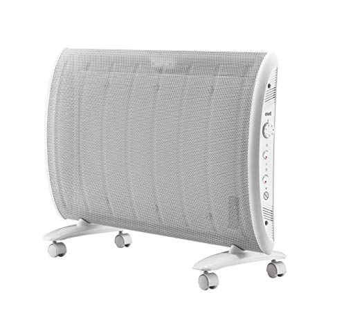 ewt Wärmewellenheizung, 3 Heizstufen, 1500 W max, stufenloses Thermostat, Kontroll-Leuchte, elektrische Heizung, Heizgerät, weiß, Clima 15 TLS