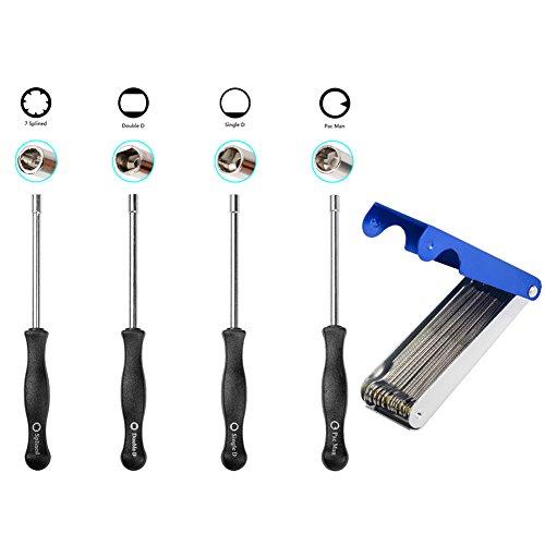 OuyFilters Carburetor Adjustment Tool Kit Carb Adjusting Screwdriver with Jet Cleaner Cleaning Tool for Carburetor -