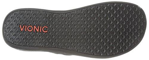 VIONIC Womens IN44 Islander Leather Sandals Black