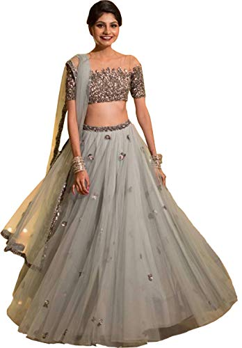 ShreeBalaji Enterprise Women\'s Silk Semi-Stitched Lehenga Choli (Zel-SBE-19 _Multi Color_ Free Size)