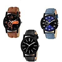KDENTERPRISE Analog Men's Boy's Watches Pack of 3