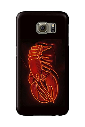 Lobster Neon Sign (Galaxy S6 Cell Phone Case, Slim Barely There)