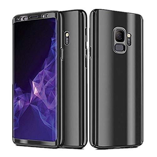 Samsung Galaxy S9 Hülle, 3 in 1 Ultra Dünner PC Harte Case 360 Grad Ganzkörper Schützend Anti-Kratzer Anti-dropping Schutzhülle für Galaxy S9 Plus (Samsung Galaxy S9, Schwarz)