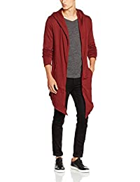 Urban Classics Long Hooded Open Edge Cardigan, Gilet Homme