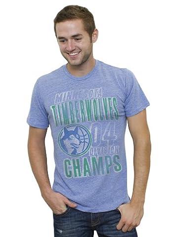 NBA Minnesota Timberwolves Men's Vintage Tri-Blend Short Sleeve Crew T-Shirt, Liberty, Small