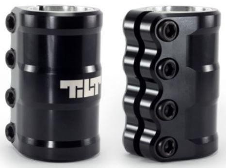 Tilt SCS Compression System Stunt-Scooter Clamp + Fantic26 Sticker (ARC mit Shim 32/35 Schwarz)