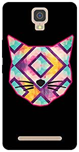 The Racoon Grip printed designer hard back mobile phone case cover for Gionee M5 Plus. (Catitude)