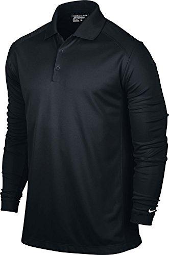 Nike Herren Langarm Polo Victory Black/White, M - Langarm Nike Dri-fit-golf