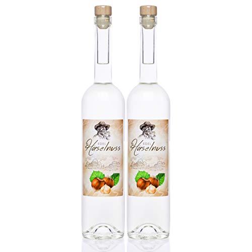 Haselnuss Schnaps 0,7 Liter, 2 Flaschen, Haselnuss Spezialität von Kultbrand aus Nürnberg, Sensationelle Qualität, Direkt vom Hersteller, Die Königin unter den Prinzessinnen