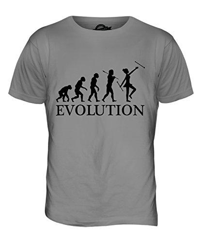 Candymix Baton Twirling Evolution des Menschen Herren T Shirt, Größe 2X-Large, Farbe ()