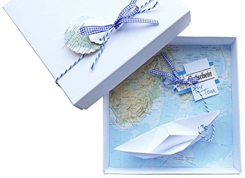 Geldgeschenk-Verpackung Reise Gutschein Schiff für Geburtstag Hochzeit, Geld schenken