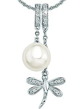 s.Oliver Jewel Damen Halskette 925 Sterling Silber Muschel Zirkonia   weiß 8903