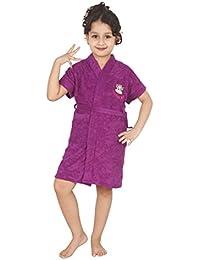 Superior Cotton FeelBlue Teens Terry Bathrobe, 34 Inches (Purple, SK014_XXL)