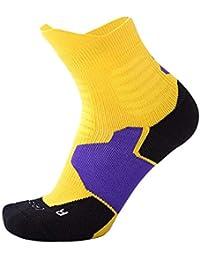 AOTUO 1 par Hombres Calcetines Deportivos Antideslizantes Transpirable Sudor Absorbente Calcetines Deportivos Gruesos Calcetines antifricción de