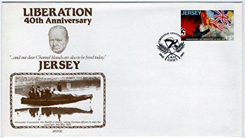Premier Jour Coque. Jersey Tampons. 1985. Liberation. 40e anniversaire par  Jersey