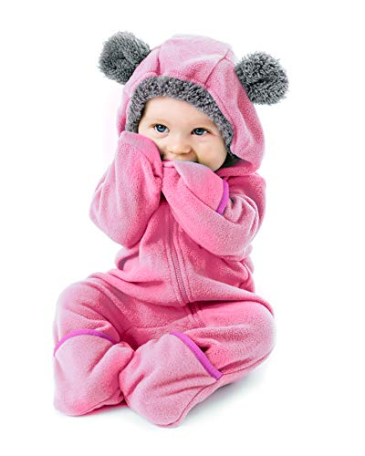 Cuddle Club Funzies Fleece Baby Romper Jumpsuit - Infant Pyjamas Winter Dungarees Outfit