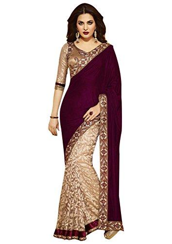 Csebazaar Damen Indischer pakistanischen Bollywood Designer Hochzeit tragen Saree Sari (Sari Tragen Indische)