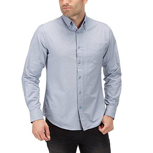 Charles Wilson Langärmliges Oxford Freizeithemd Dunkel Blau