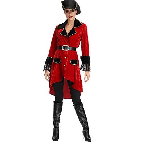 LOPILY Kostüme Damen Piratenkostüme mit Kopfbedeckung Hochsee