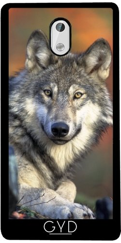SilikonHülle für Samsung Nokia 3 - Wolf Tier Wildtier Niedlich by Grab My (Maskottchen Billig)