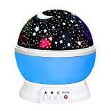 DMbaby Geschenke für 2-8 jährige Jungen, Sternennachtlichtprojektor 360-Grad Weihnachten Spielzeug 2-8 Junge Spielzeug für 2-8 Jährige Jungen Party Geschenke Kinder Blau NL01
