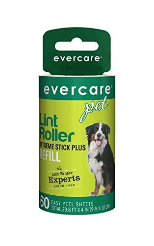 Refill Roller Lint Evercare Pet (Evercare Pet Haar extra Sticky 60Schicht Fusselroller Refill, 6Stück)