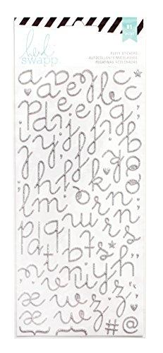 american-crafts-heidi-swapp-spcialit-autocollants-puffy-alphabet-argent-paillettes-acrylique-multico