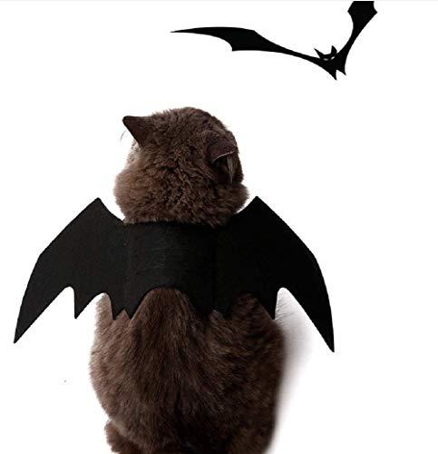 Kostüm Vorhanden Hunde Tragen - DOXMAL Fledermausflügel Welpen Kostüme Schwarz Halloween Fledermausflügel Bekleidung Verstellbarer Halsverschluss für kleine große Hunde