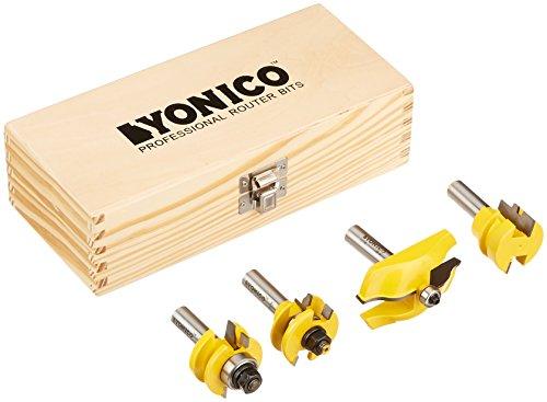 Kleiderstange und Stil Schrank Tür Router Bit Set 4Bit Ogee–1/5,1cm Schaft–yonico 12430Matte
