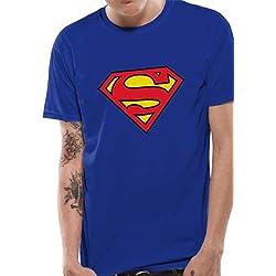 Mercancía Con Licencia Oficial SUPERMAN - LOGO T-Shirt (Azul), X-Large