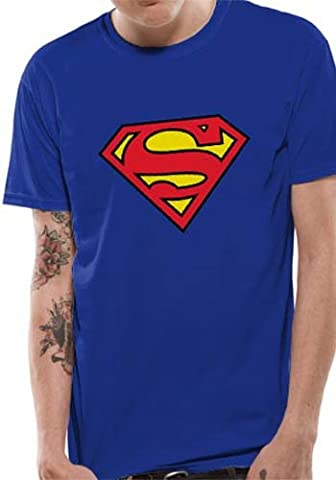 Officiellement Marchandises Sous Licence SUPERMAN - LOGO T-Shirt (Bleu),