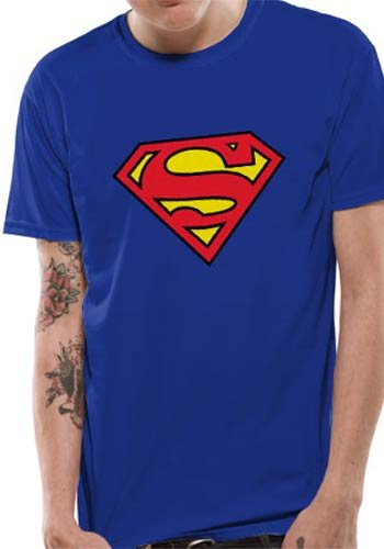 Mercanzie Licenza Ufficiale SUPERMAN - LOGO T-Shirt (Blu), XX-Large